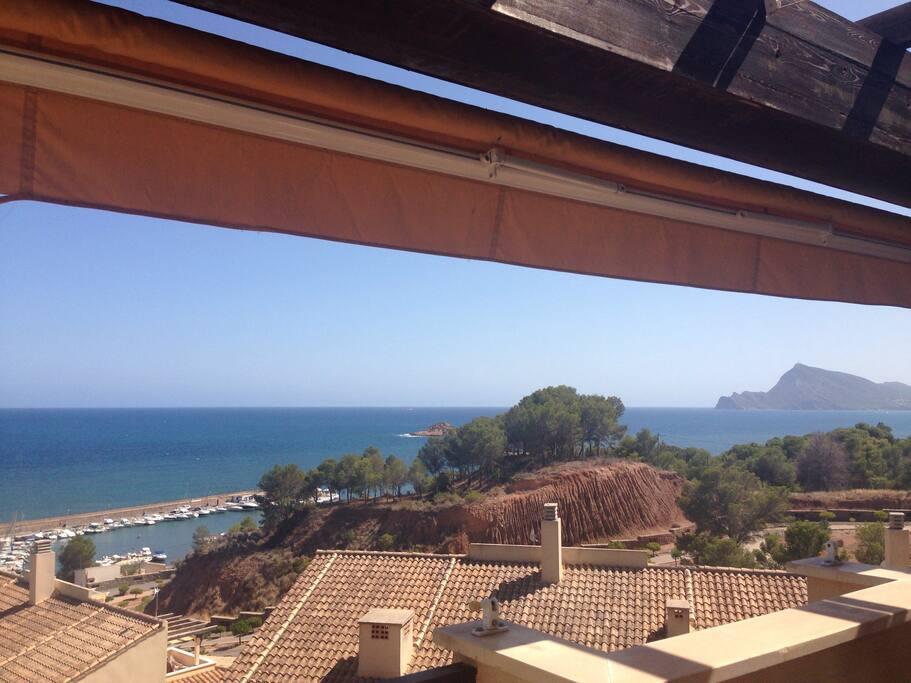 Las espectaculares vistas desde la terraza...