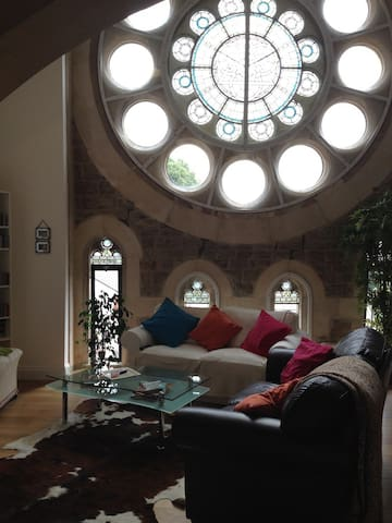 Stay in a converted church!