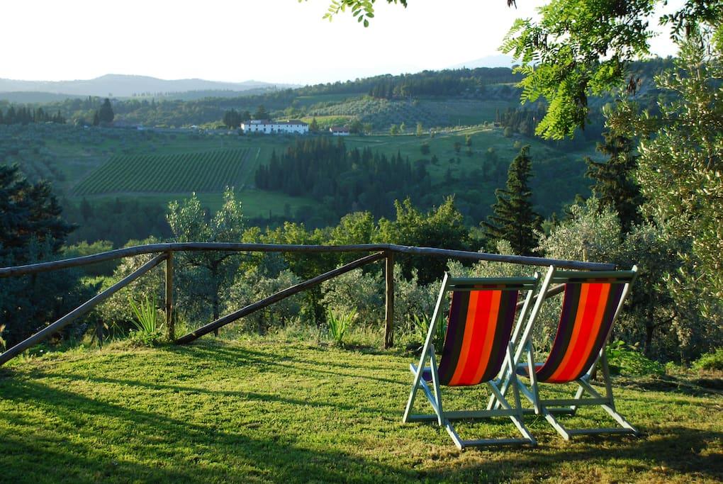 Enjoying the view  at Ancora del Chianti EcoBB & Art Yoga Retreat