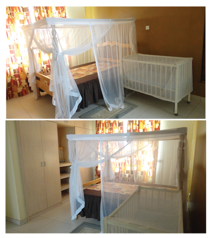Master  Bedroom. Beds fitted with Mosquitoe nets