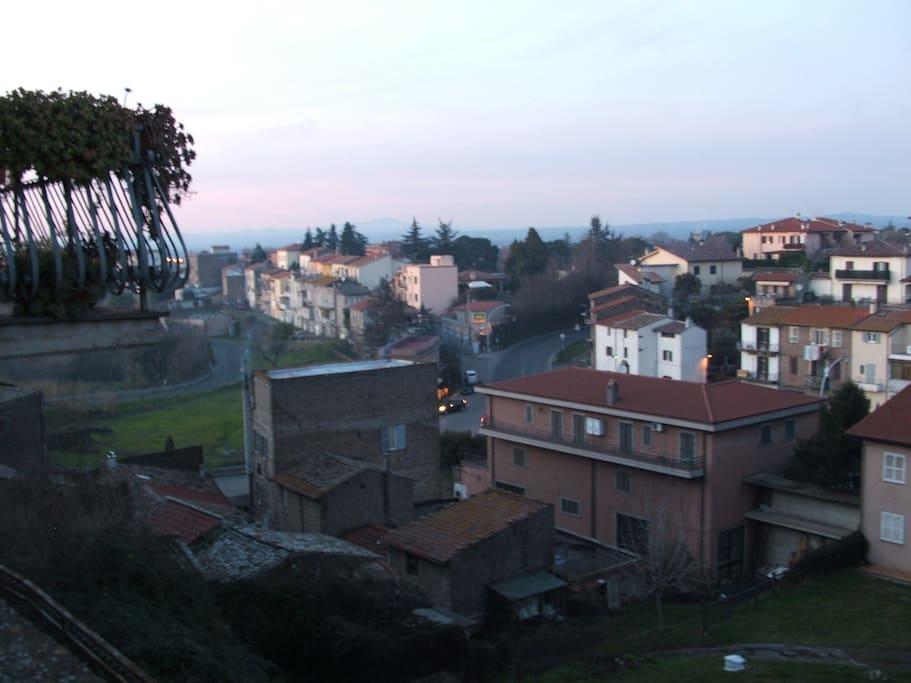 veduta panoramica del borgo verso ovest