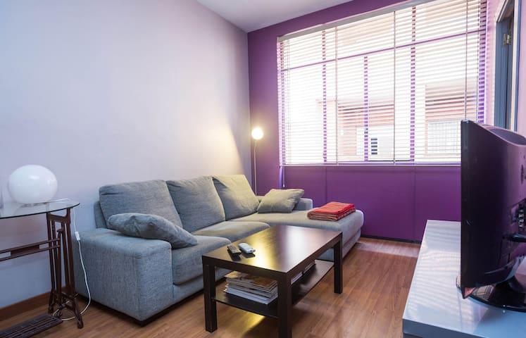 A comfortable TV room