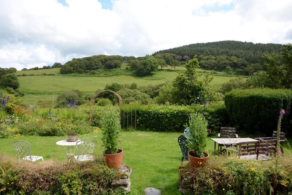 View from front door over Glyndwrs Way