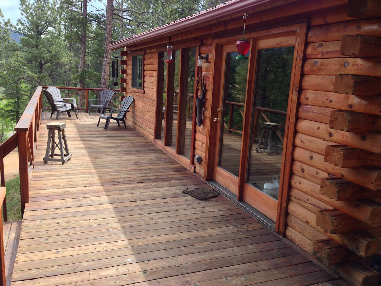 Front deck of cabin, 5 floor to ceiling windows at 8900 feet!