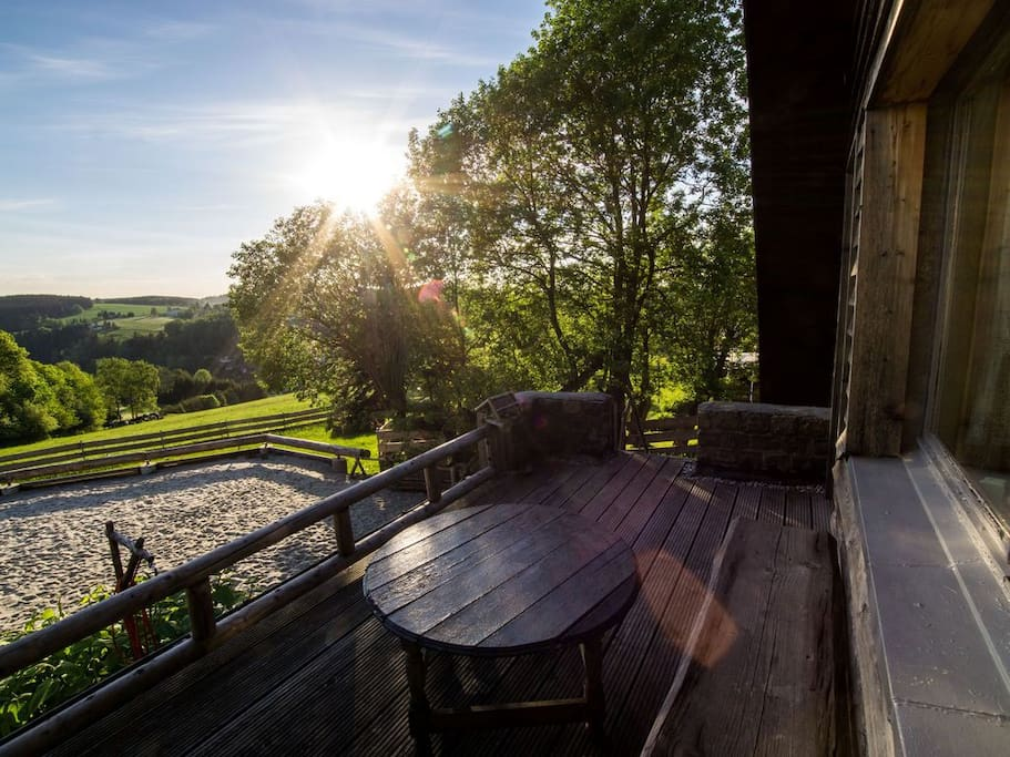Terrasse mit Weitblick über Pobershau
