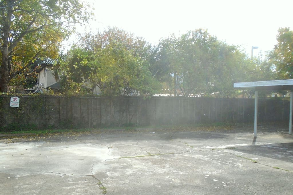 Large Backyard, Paved Parking Area