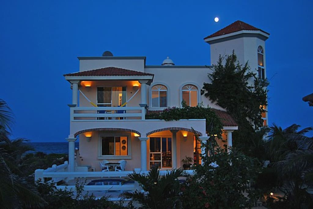 Villa at sunset