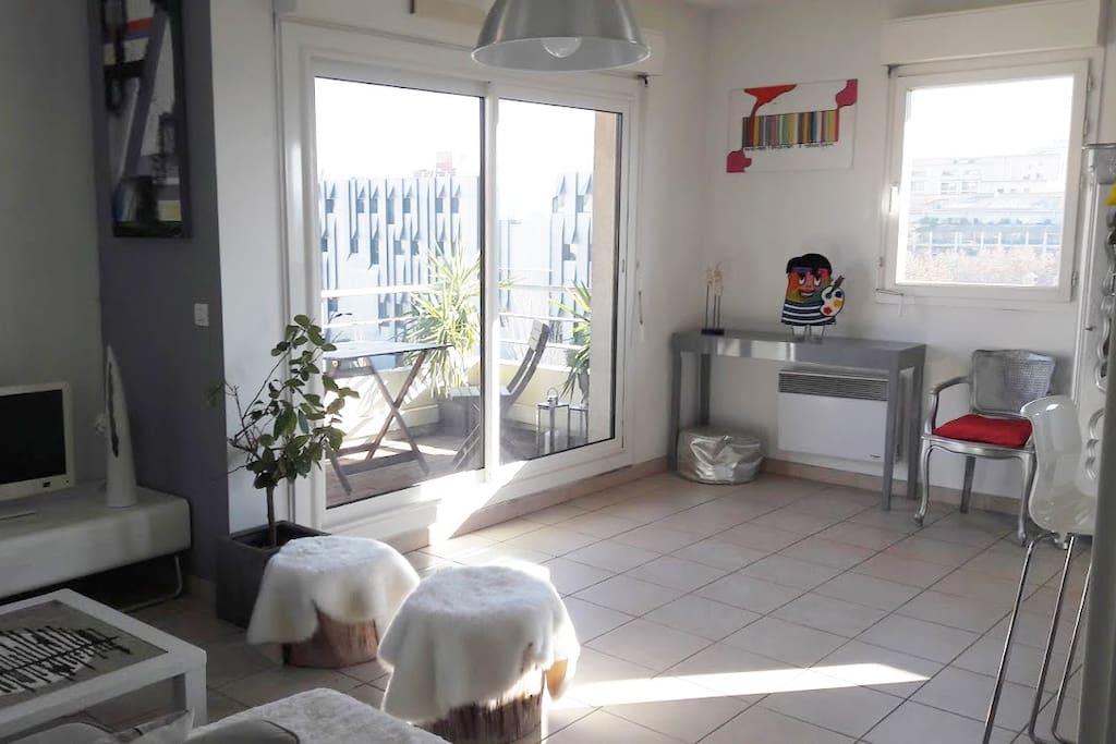 Centre 2terrasses climatisation wifi garage priv for Climatisation appartement