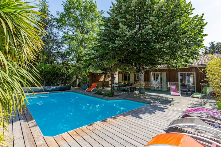 LOVELY HOUSE ON THE BASSIN D'ARCACHON PRIVATE POOL