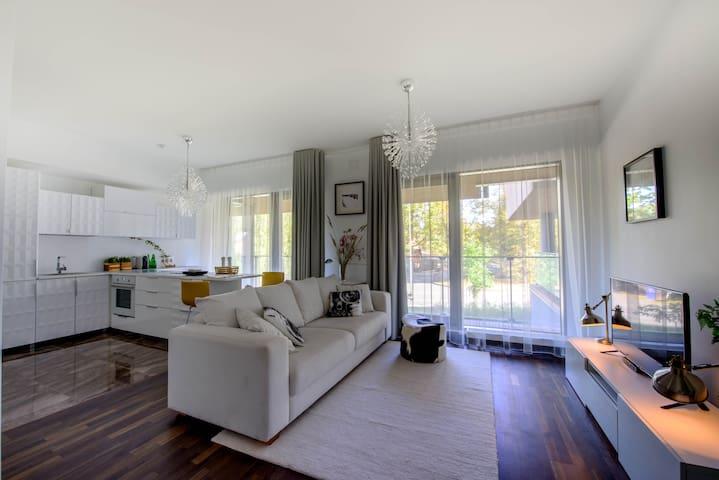 Квартира-студия в скандинавском стиле на море - Saulkrasti - Lägenhet