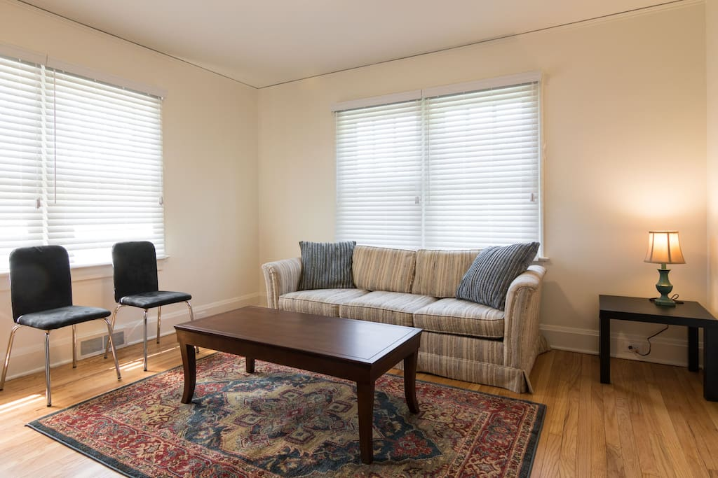 Elegant, simple, spacious rooms provide areas to visit with friends and family.