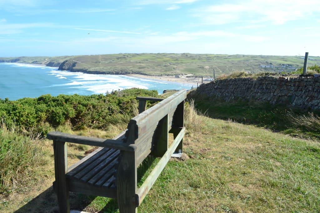Coastal Path a three minute walk away