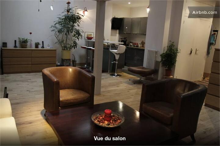spacious and modern loft, 60€/night