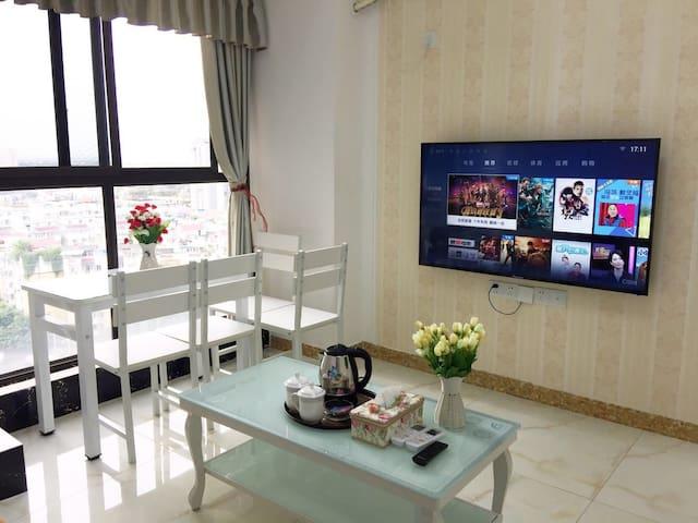 紫竹庭15楼简欧清新一居套房【拾光民宿】