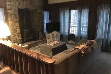 Cabin style home with modern ammenities!