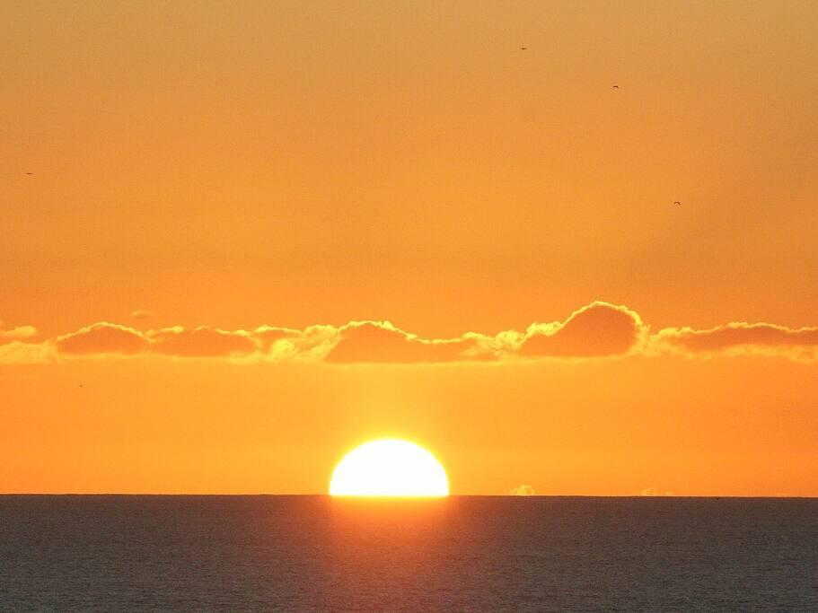 Sunset at night.
