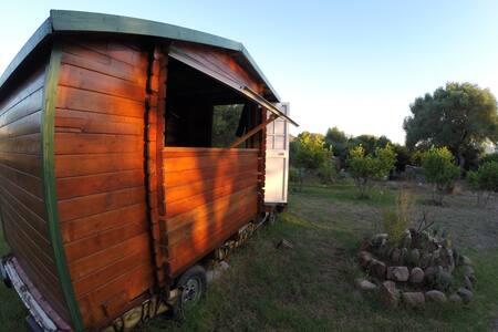 Wooden house with small porch - Facinas - Maja
