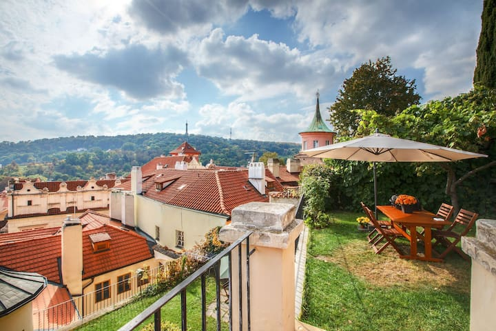 View from the garden to Petrin tower