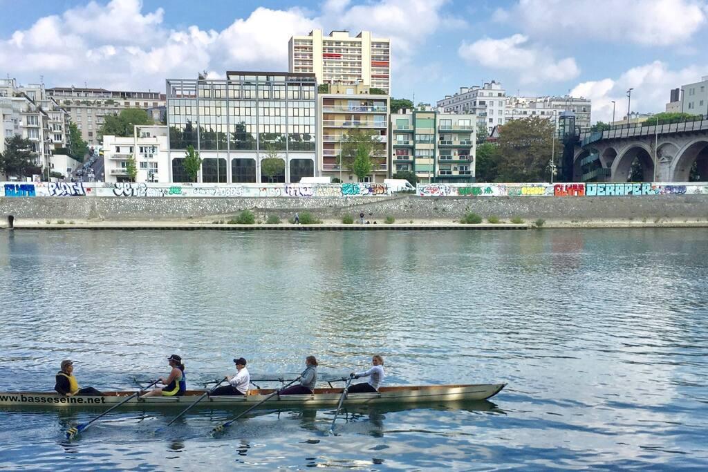 La Seine vue de l'île de la Jatte