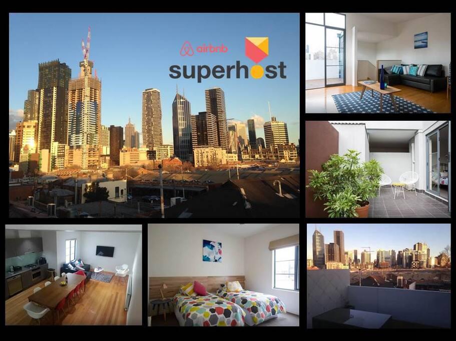 Superhost panorama queen vic market maisons de ville - Maison entrepot melbourne en australie ...