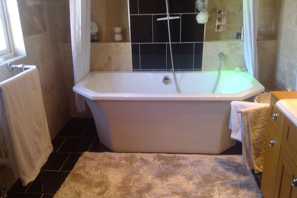 Shared bathroom and shower room available