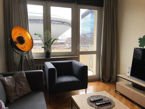 Apartamento espaçoso no centro da cidade