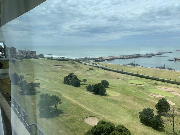 Departamento frente al Mar del plata Golf club