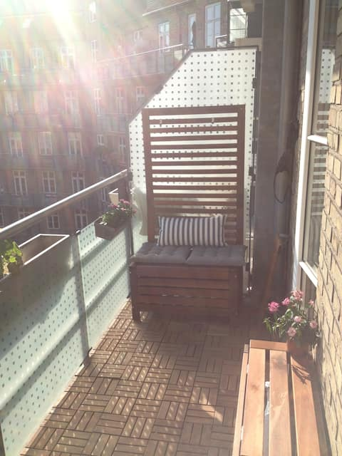 Apartment with sunny balcony!