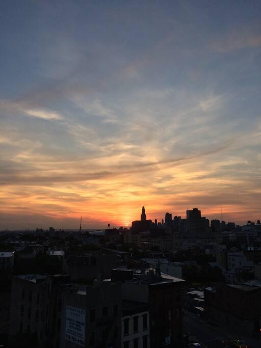 Sunsets every night!