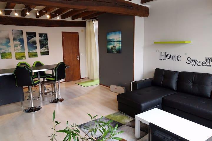 Appartement de 60m2  dans maison de caractère - Courson-les-Carrières - Apartamento