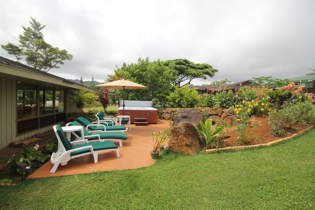 kauai retreat center 39 elua room 2 bed breakfasts zur miete in kilauea hawaii vereinigte. Black Bedroom Furniture Sets. Home Design Ideas