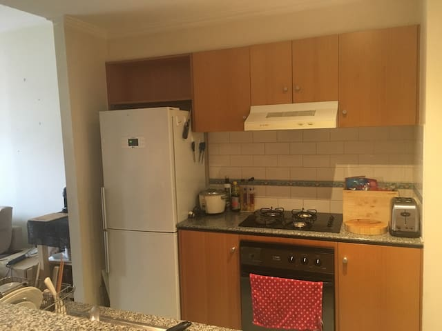 Kitchen has a lot of appliances like a juicer, toaster, rice cooker, wok etc