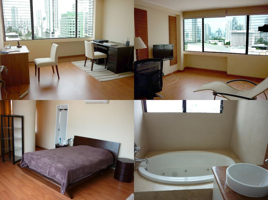 Rooms are spacious, with excellent views and main room with a Jacuzzi