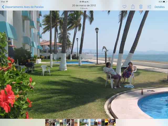 RENTO DEPARTAMENTO A PIE PLAYA - Manzanillo  - Lägenhet