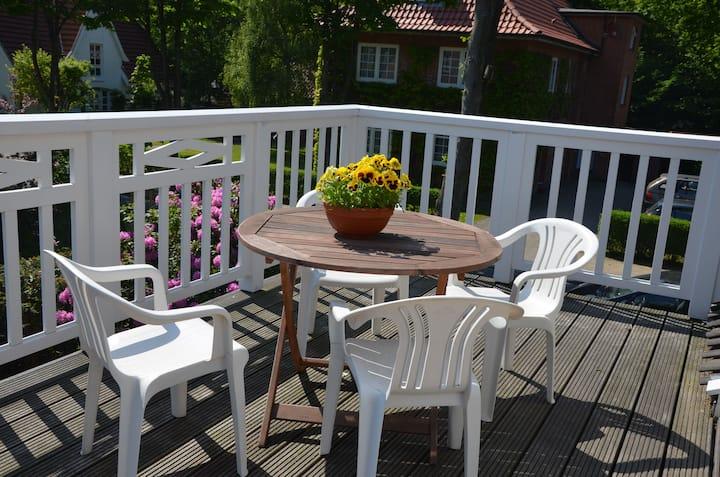 Haus Südstrand Wohnung mit Terasse Wyk auf Föhr
