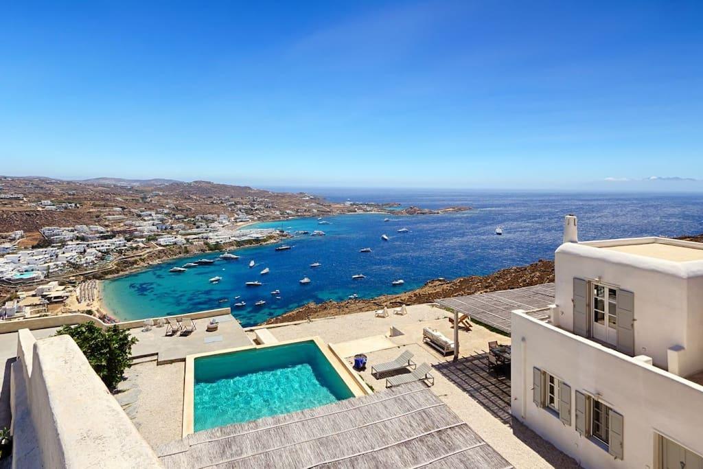 villa from top