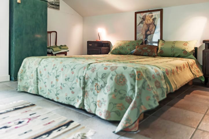 Camera 5 in mansarda con king size bed 170 x 200