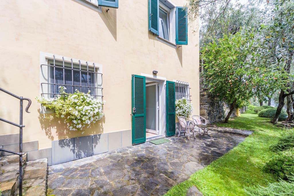 Front door on private Garden