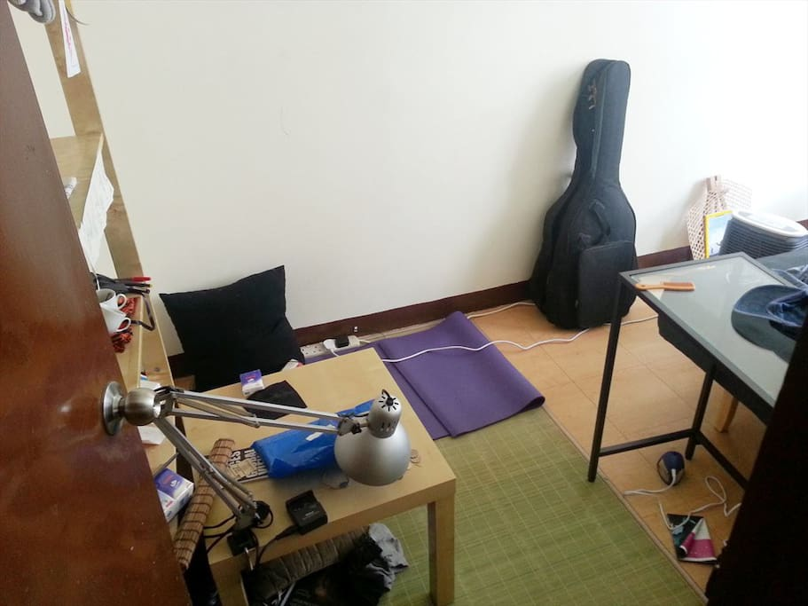The second half of the room, as seen while my flatmate still lives here.