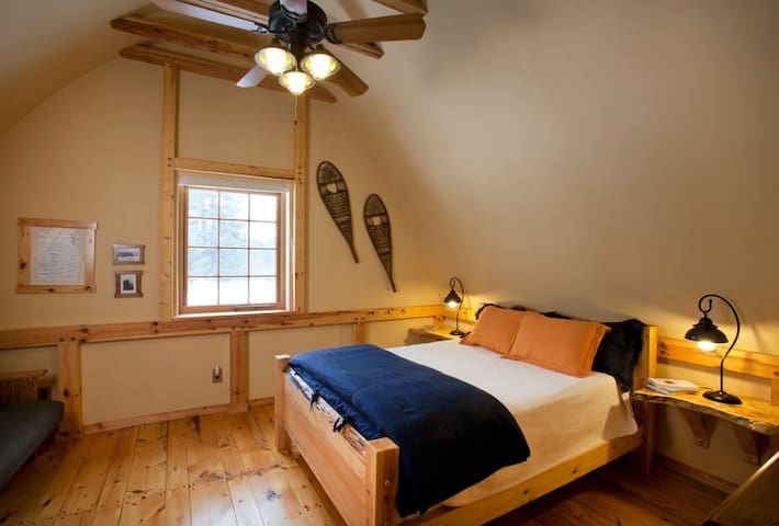 Sunrise bedroom with organic mattress and linens