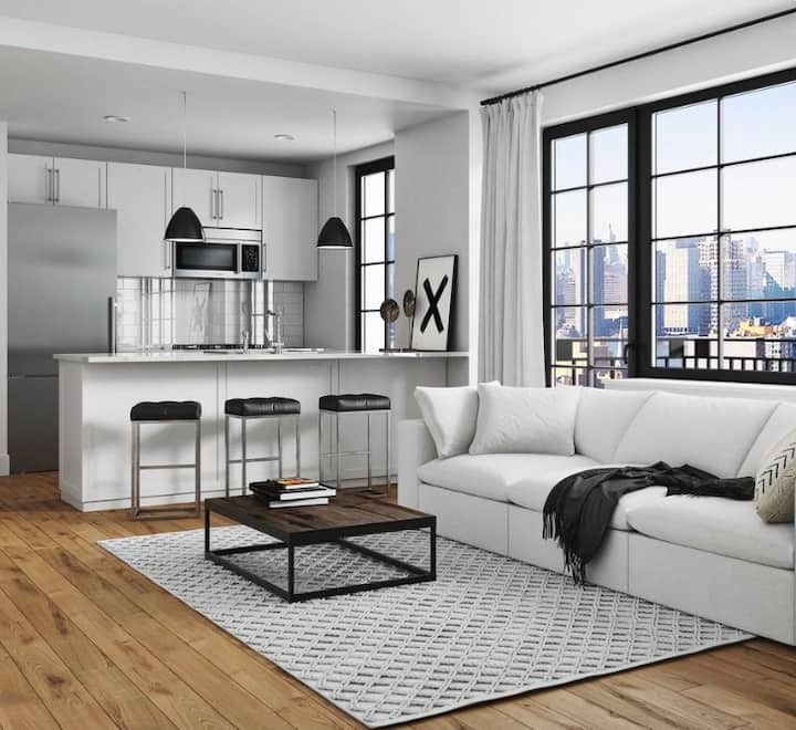 5 mins to NYC Amaze City View Luxury Comfy Couch