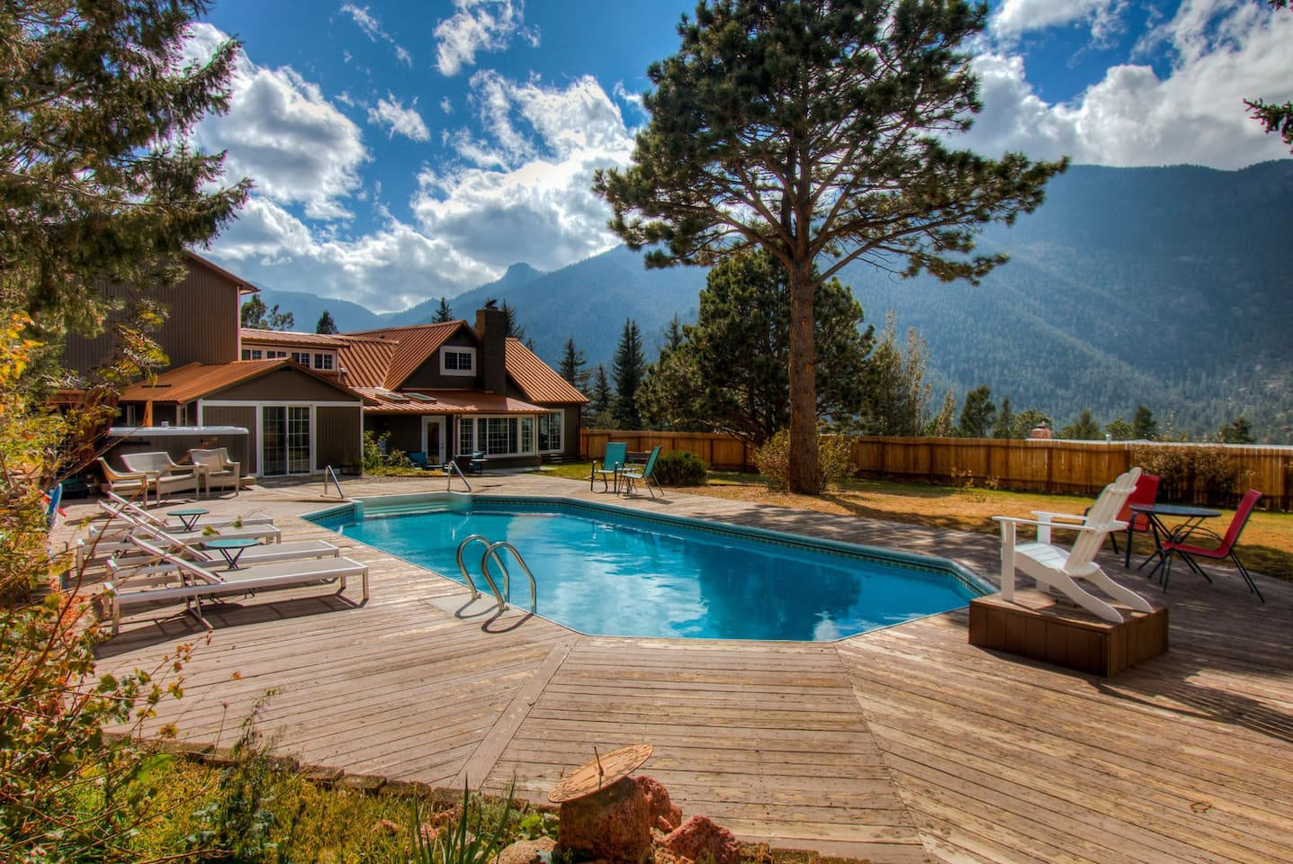 Magnificent views from the backyard pool
