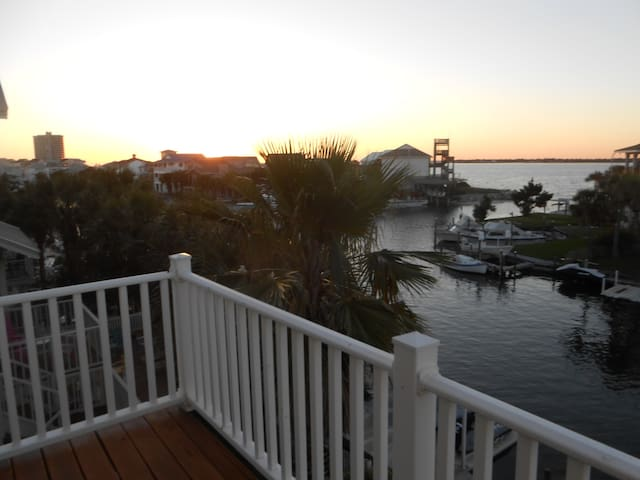 Sunset View of Pensacola Sound from Back Deck