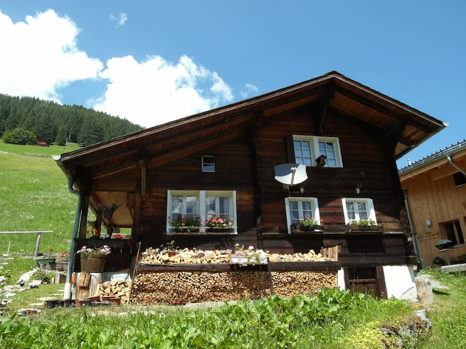The Chalet on a beautiful summer day.