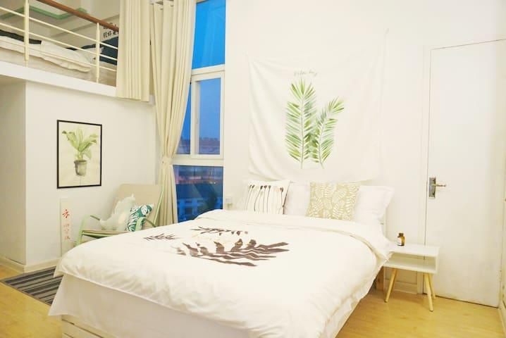 【禾室】瘦西湖南门附近的小清新loft公寓
