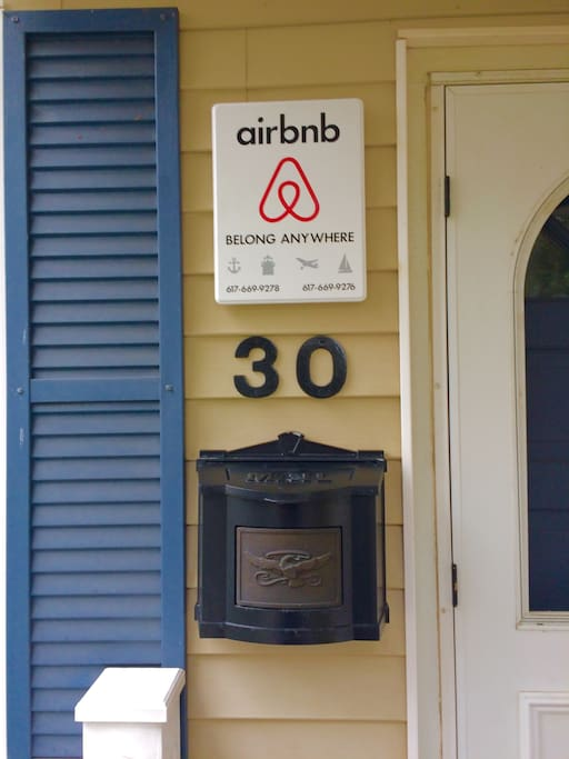 Our Airbnb sign shows quality, safety and commitment standards for all our guests.