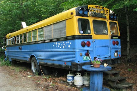 Schoolbus in the Woods - Thornton