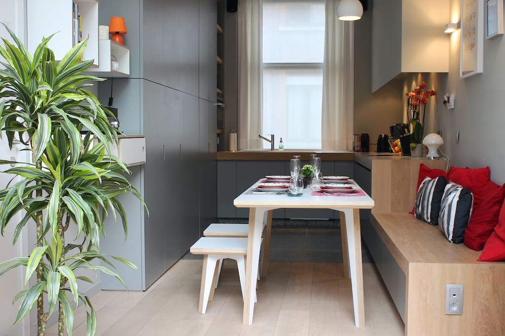 Ground floor - our well equipped kitchen with a terrace