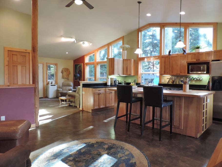 Open floor plan....kitchen, 2 sitting areas and dining area (out of view)