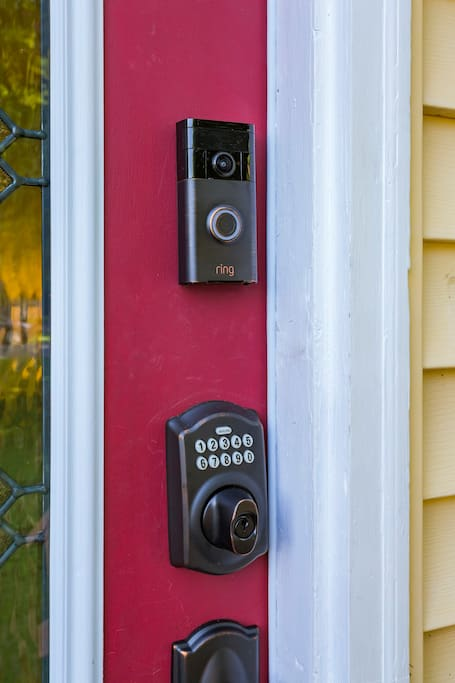 Keyless entry system for easy check-in.